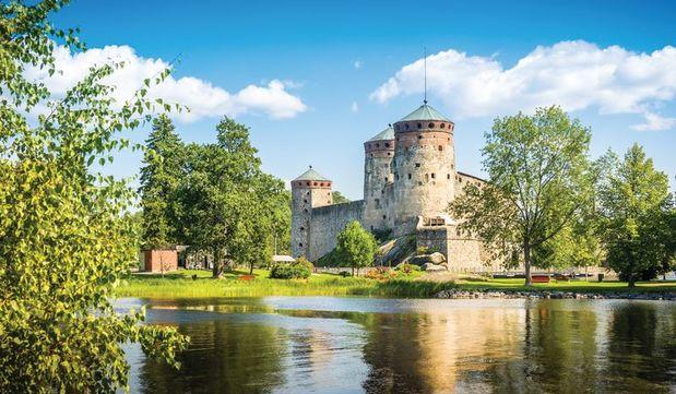 Olavinlinna fortress in Savonlinna, Finland