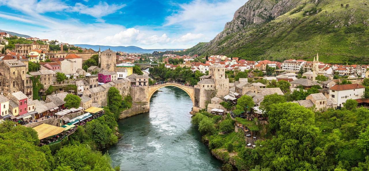 The Old Bridge in Mostar, Bosnia & Herzegovina