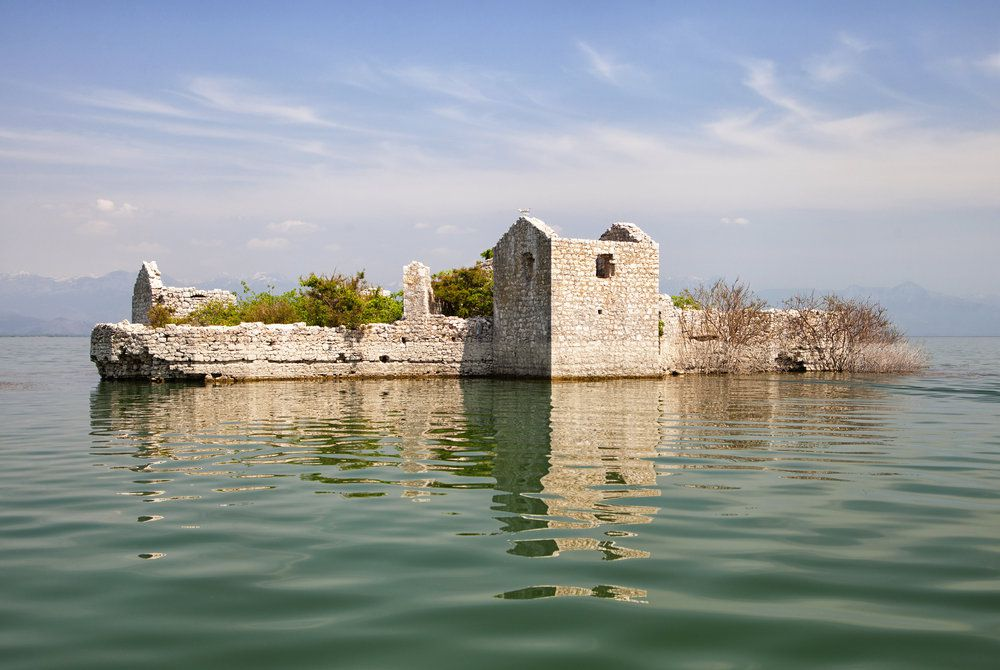 Old Island Prison, Skadar lake, Montenegro