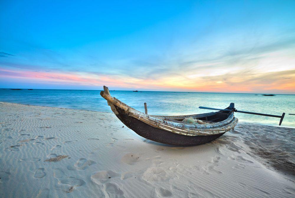 Old fisherman boat, Hue province, Vietnam