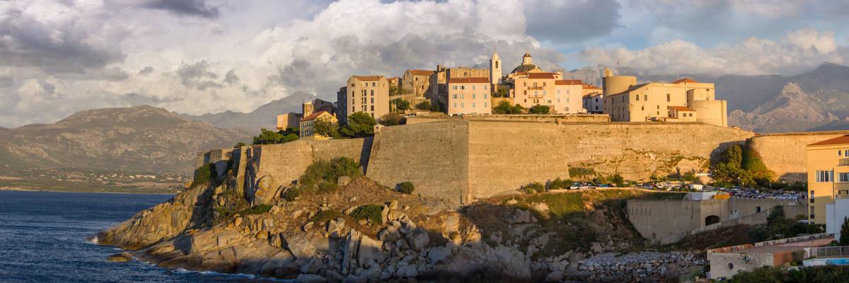 Old medieval Village of Porto Vecchio in Corsica