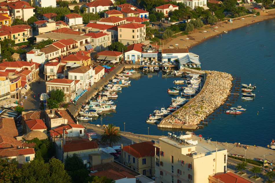 Old port, Myrina city, Lemnos island, Greece