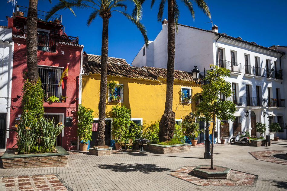 Old town in Marbella, Spain