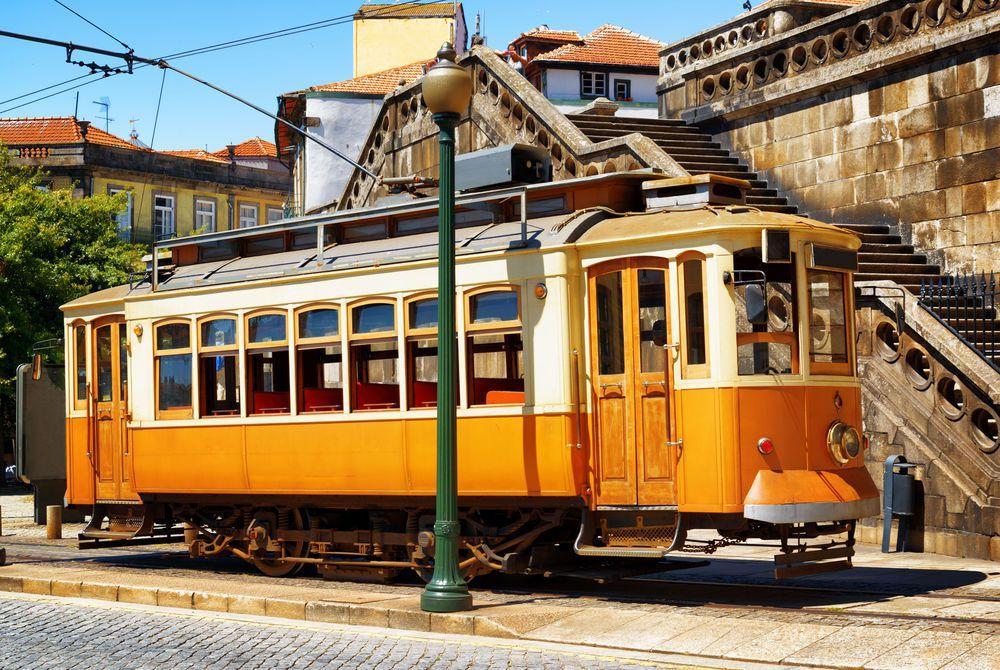 Old tram in Porto, Portugual