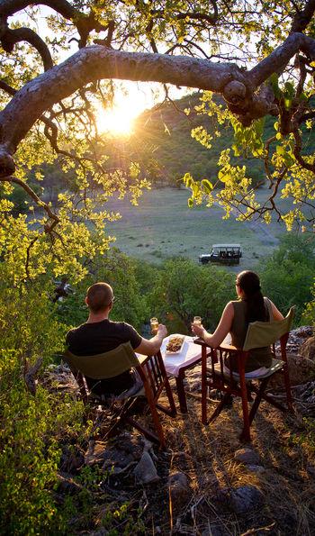 Sundowners at Etosha National Park