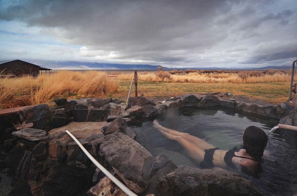 Wilderness hot spring, Oregon