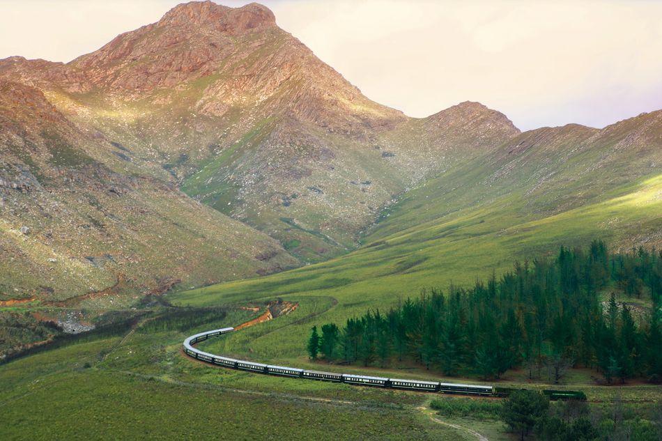 Rovos Rail winding through a valley
