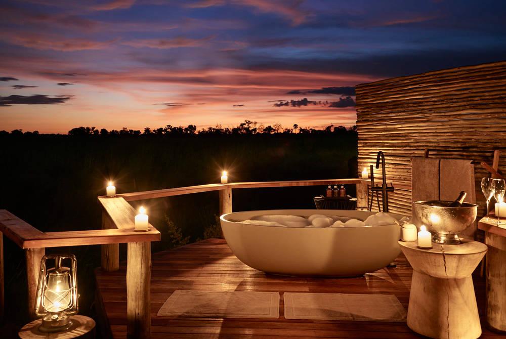 Outdoor bath, Sanctuary Baines Camp, Botswana