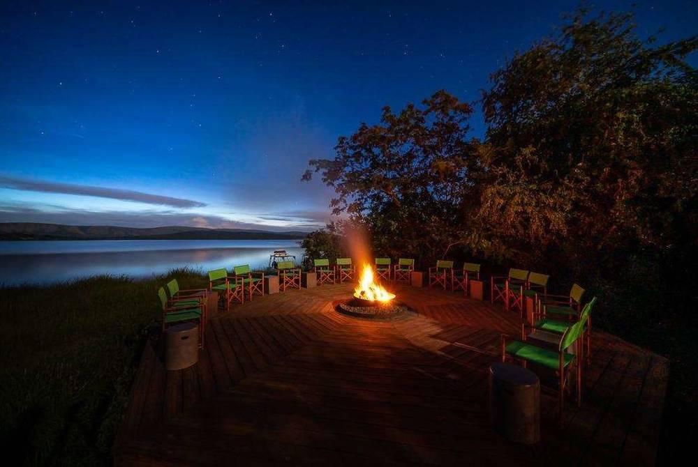 Outdoor boma, Magashi Camp, Akagera National Park, Rwanda