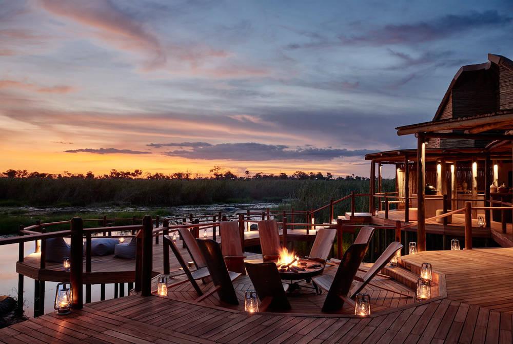 Outdoor deck, Sanctuary Baines Camp, Botswana