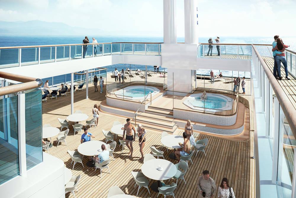 Outdoor deck (rendering) Havila Voyages