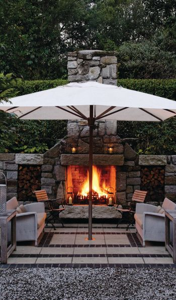 Firepit, Huka Lodge, New Zealand