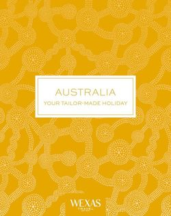 Cover for brochure Australia