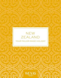 Cover for brochure New Zealand