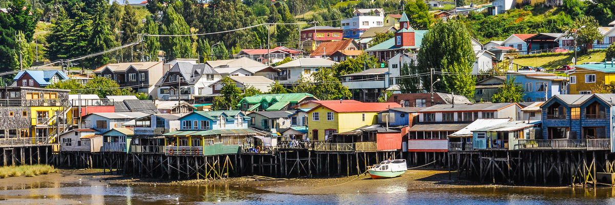 Palafitos (Stilt Houses), Chiloe Island, Chile