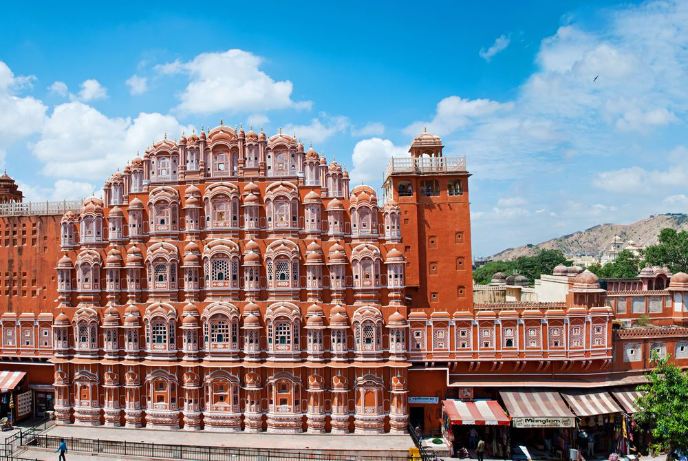 Panorama, Hawa Mahal, Palace of Winds, Jaipur, India