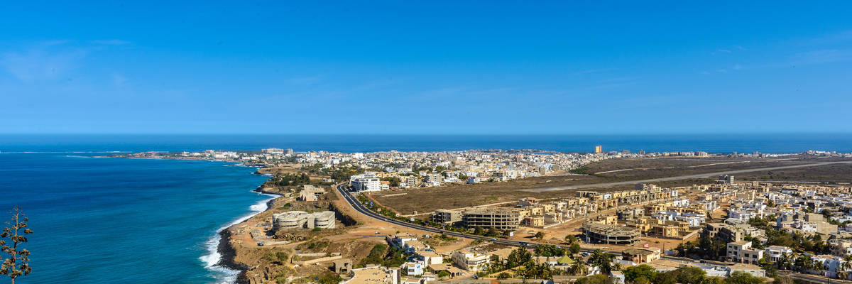 Panorama of Dakar, Senegal