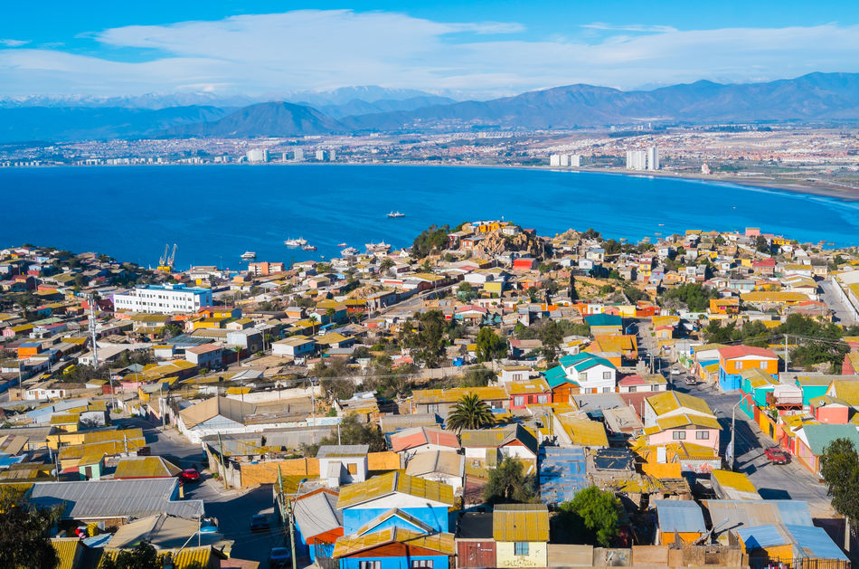 A panoramic view of Coquimbo, Chile