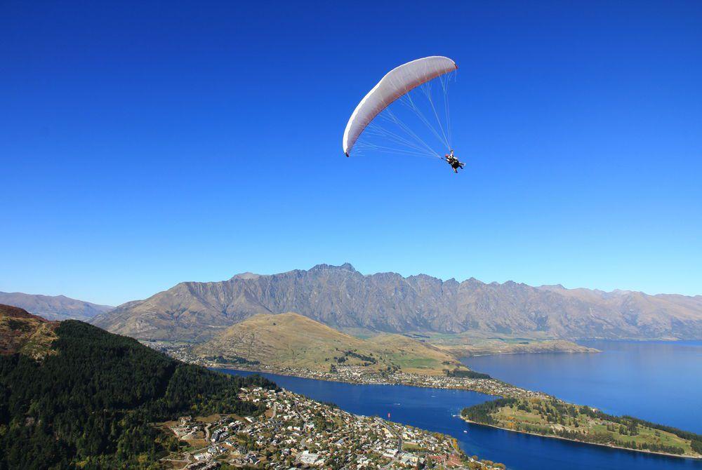 Paragliding, Queenstown, New Zealand