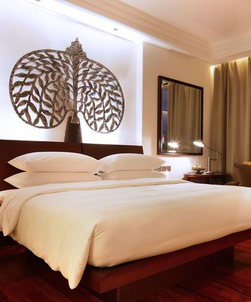 Park King Room, bedroom, Park Hyatt, Siem Reap, Cambodia