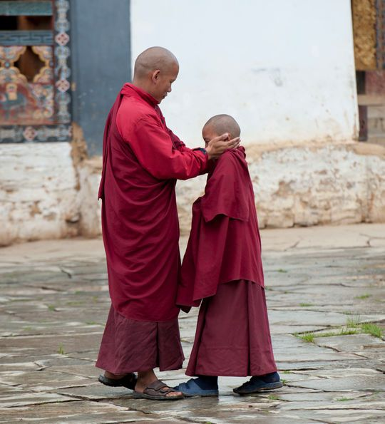 Monk and apprentice monk