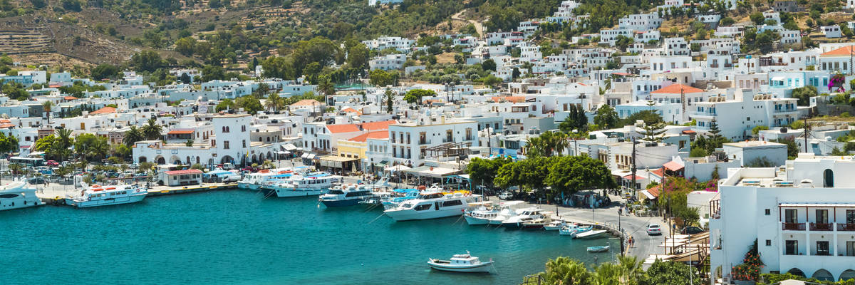 Patmos island Skala city, Greece