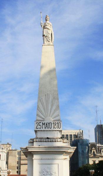 Pirámide de Mayo of the Plaza de Mayo in Buenos Aires