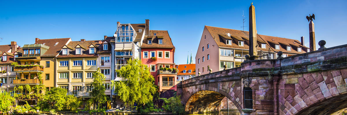 Pegnitz River, Nuremberg, Germany