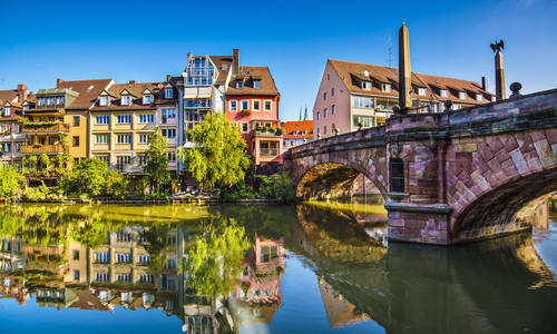 Pegnitz River, Nuremberg, Germany
