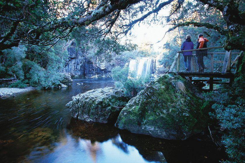 Pencil Pine Falls, Cradle Mountain, Tasmania, Australia