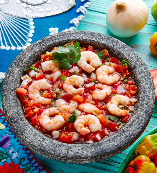 Shrimp ceviche from Peru