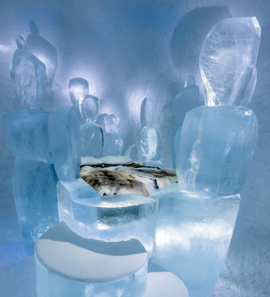 ICEHOTEL suite, Swedish Lapland