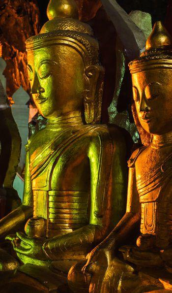 Buddha staues in Pindaya Caves, Myanmar