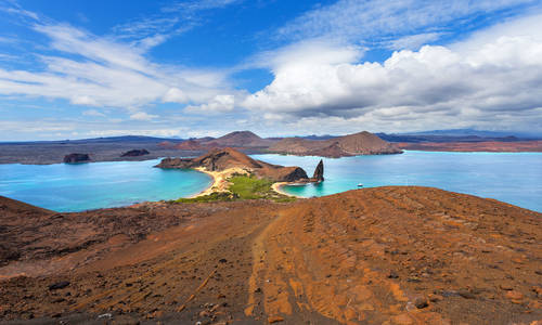 Pinnacle Rock, Bartolome Island, Galapagos Islands, Ecuador