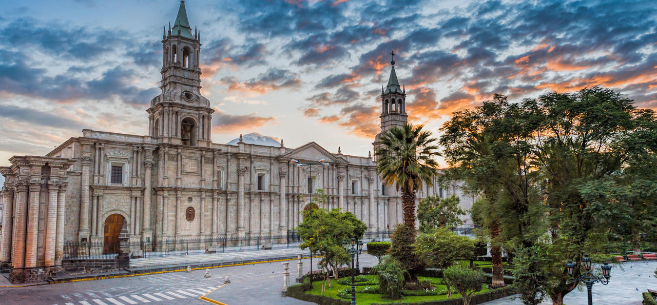 Plaza de Armas and Cathedral, Arequipa, Peru