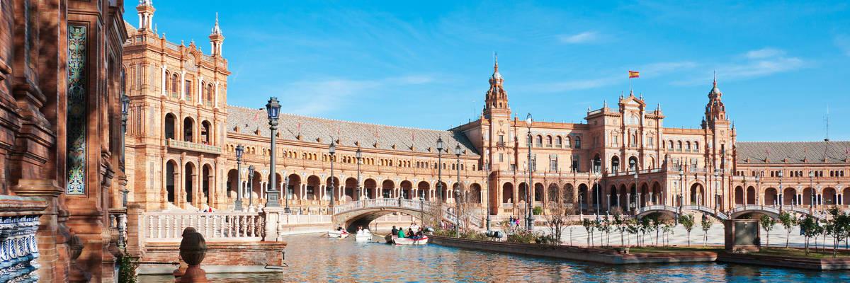 Plaza de Espana, Seville, Seville Province, Andalucia, Spain
