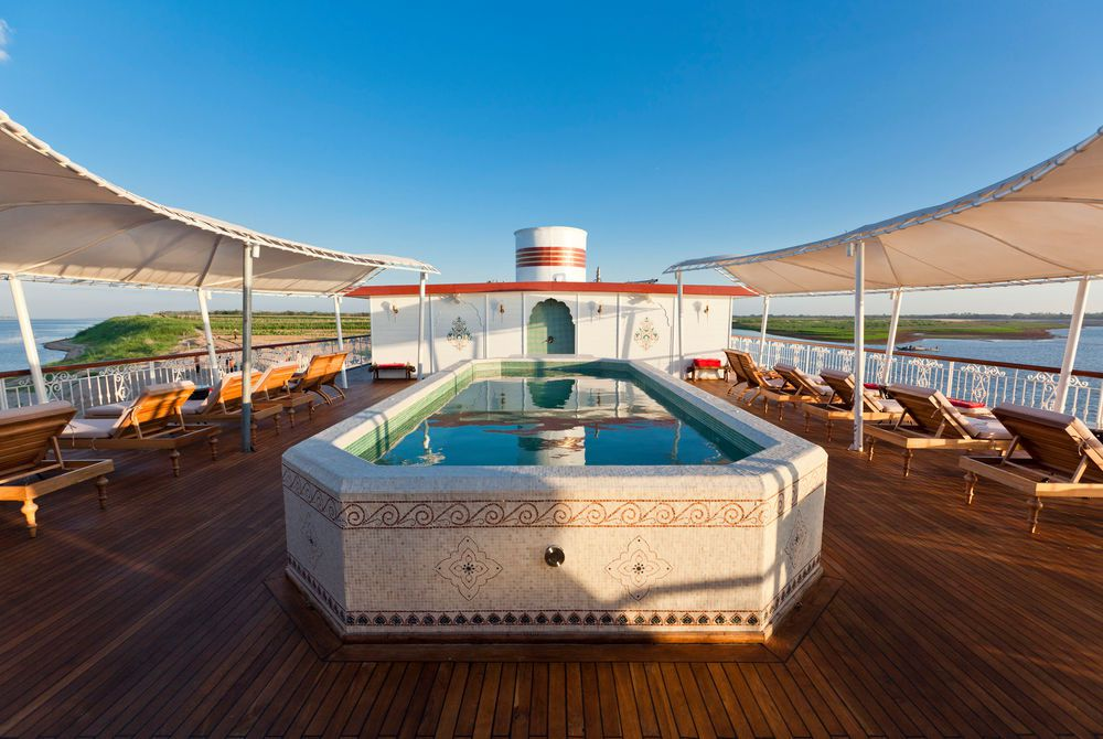 Pool Deck, The Jahan Mekong Cruise