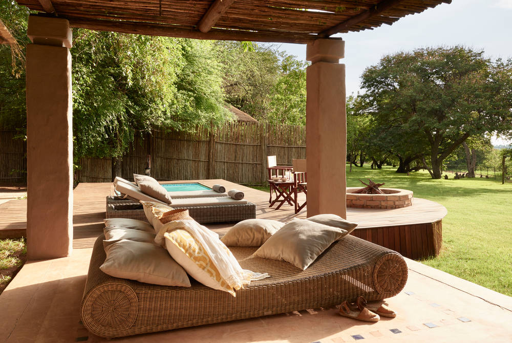 Plunge pool, Honeymoon Suite, Sanctuary Chobe Chilwero, Botswana