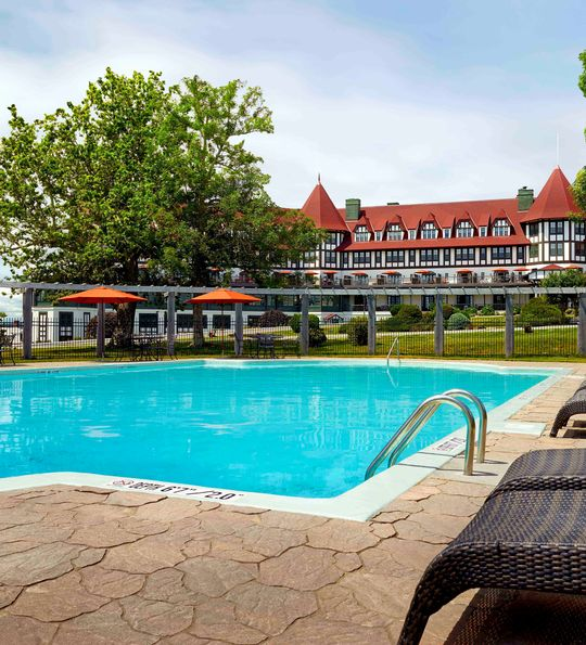Pool, The Algonquin Resort, St Andrews by the Sea, New Brunswick, Canada