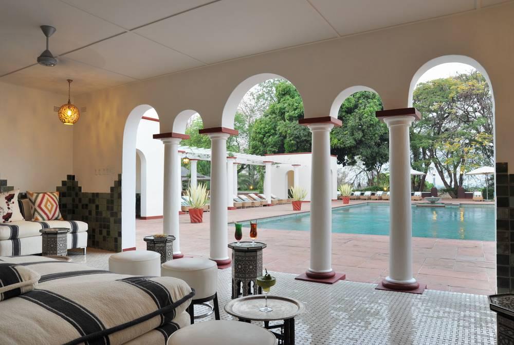 Pool pavilion, Victoria Falls Hotel