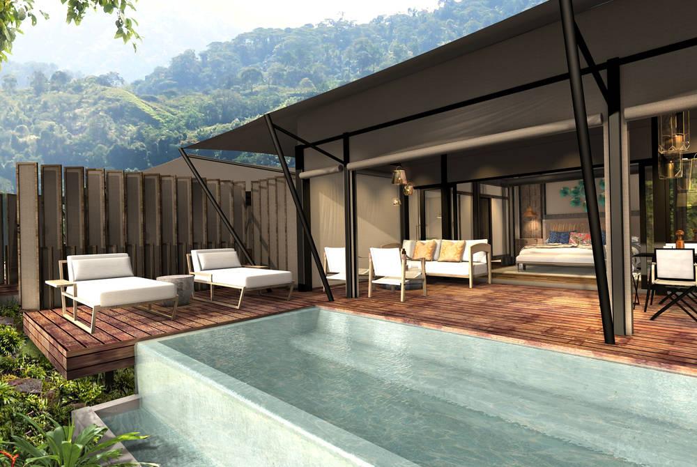 Plunge pool, Nayara Tented Camp (rendering)
