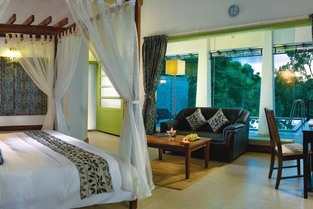 Pool villa room, Aanavilasam Luxury Plantation House, Kerala