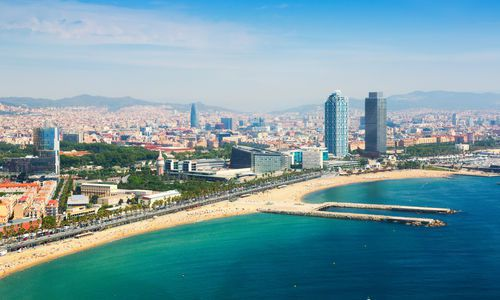 Port Olimpic and Barcelona Beach