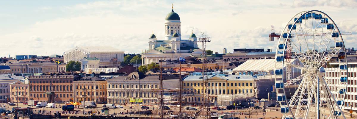 Port in Helsinki city, Finland