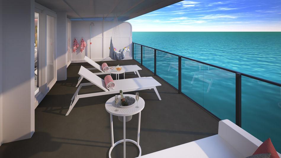 Posh Suite Terrace, Scarlet Lady, Virgin Voyages