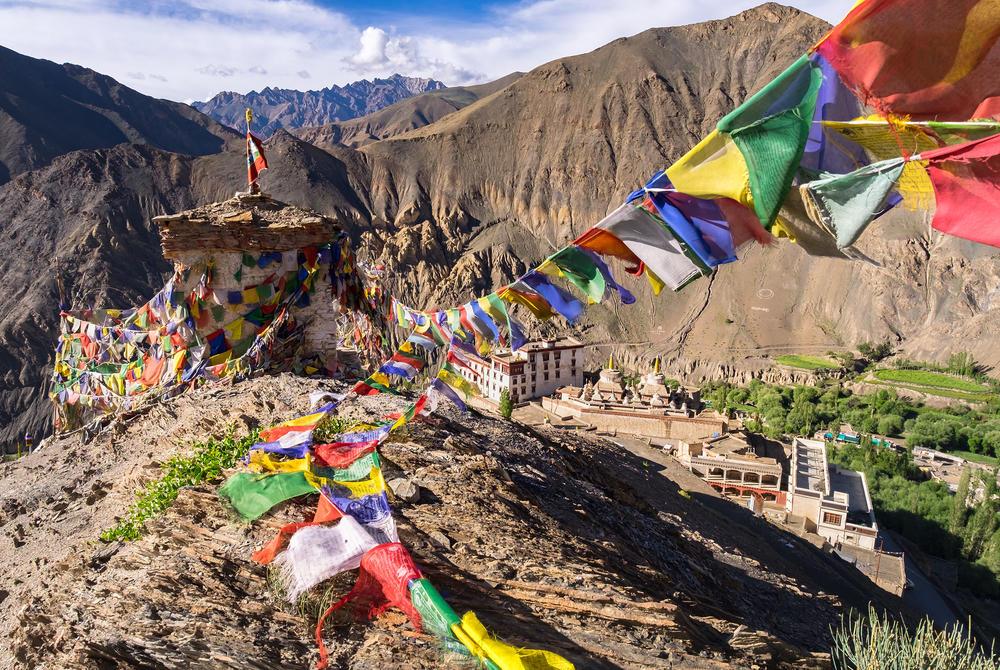 Prayer flags near Lamayuru Monastery, Leh-Ladakh