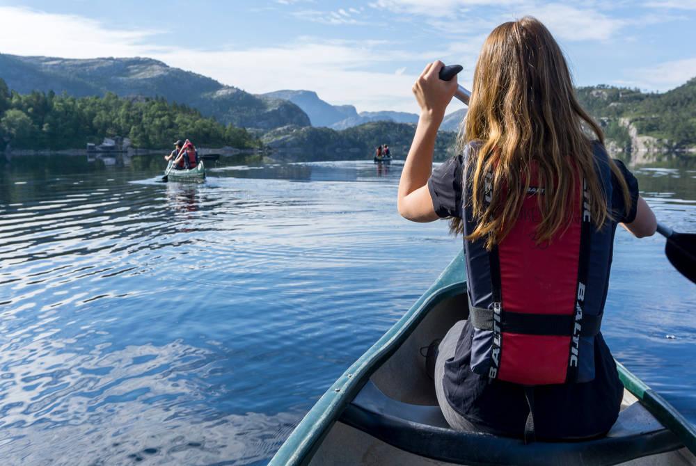 Kayaking on Refsvatn Lake, Outdoorlife Norway
