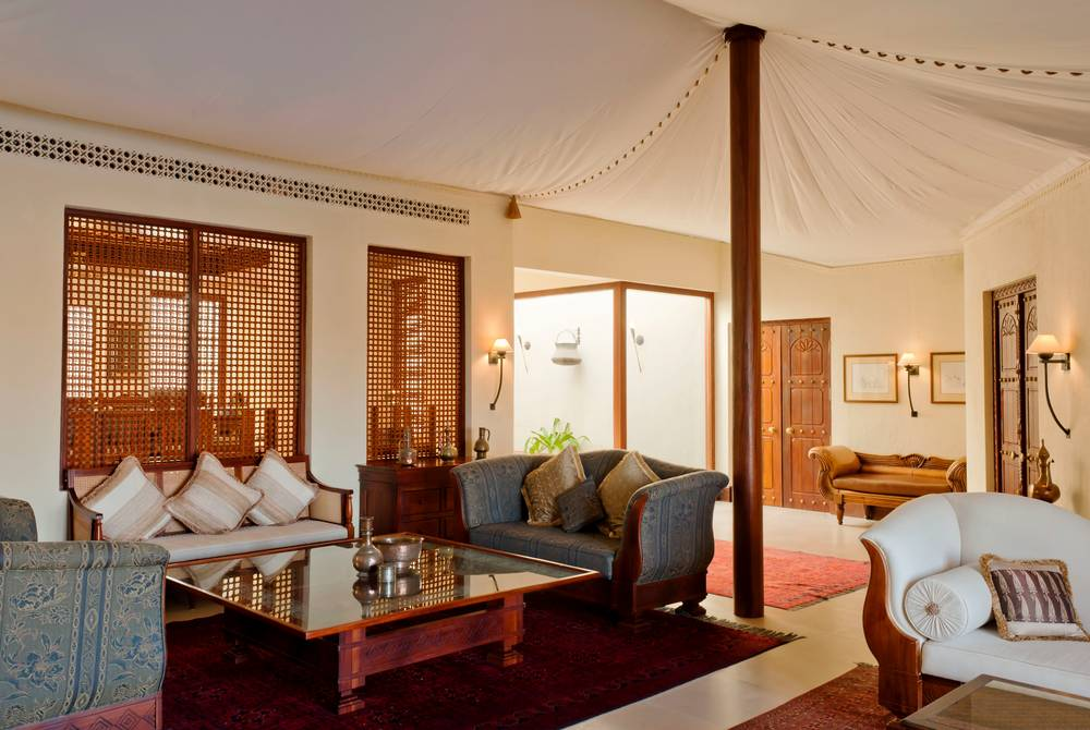 Presidential Suite lounge, The Al Maha Desert Resort, Dubai