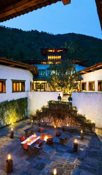 Private Dining Courtyard, Uma by COMO, Paro