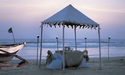 Private Dining on Beach, Taj Exotica, Goa